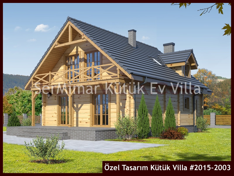Özel Tasarım Kütük Villa #2015-2003