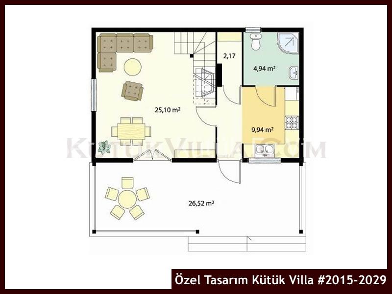 Özel Tasarım Kütük Villa #2015-2029
