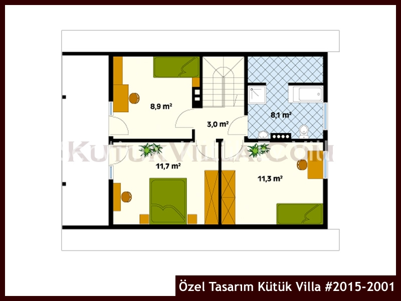 Özel Tasarım Kütük Villa #2015-2001