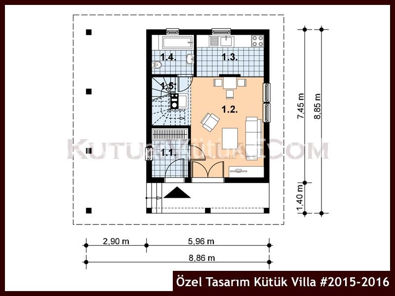 Özel Tasarım Kütük Villa #2015-2016