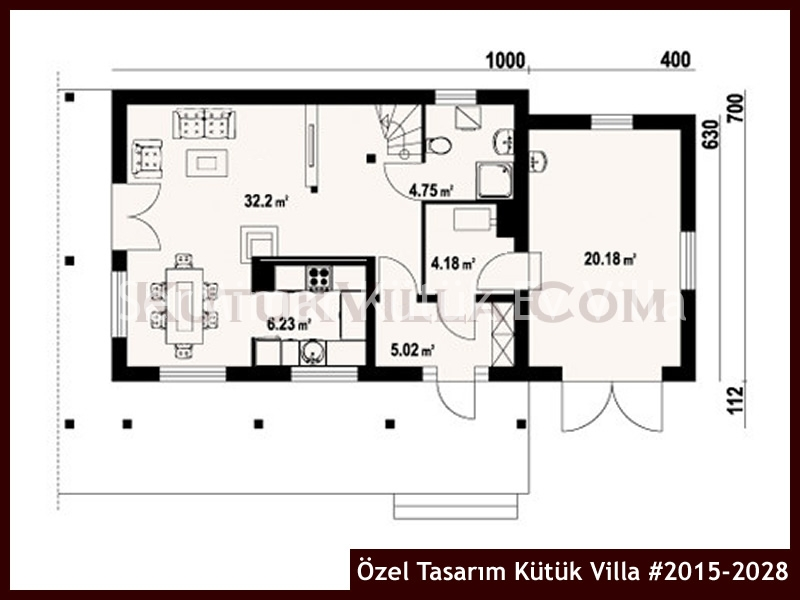 Özel Tasarım Kütük Villa #2015-2028